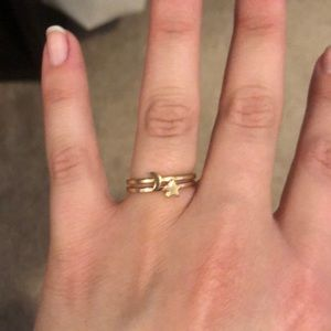 Jewelry - Star & Moon Gold Stacking Rings